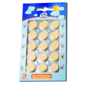 1×1 Vitamin D3-vitamin 400NE rágótabletta napocska – 15db