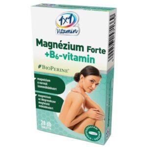 1×1 Vitamin Magnézium Forte + B6-vitamin BioPerinnel tabletta – 28db