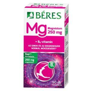 Béres Magnézium 250mg+B6-vitamin filmtabletta - 50db