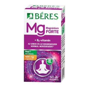 Béres Magnézium 400mg+B6-vitamin Forte filmtabletta - 50db