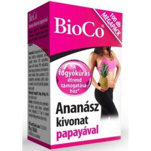 BioCo Ananász kivonat papayával Megapack – 100db