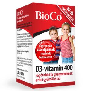 BioCo D3-vitamin 400 rágótabletta - 60db