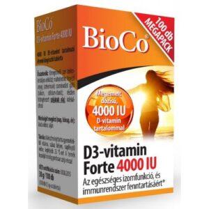 BioCo D3-vitamin Forte 4000 IU tabletta – 100db