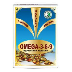 Dr. Chen Omega-3-6-9 lágyzselatin kapszula - 30db