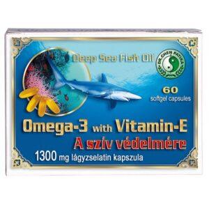 Dr. Chen Omega-3 + E-vitamin 1300mg kapszula - 60db