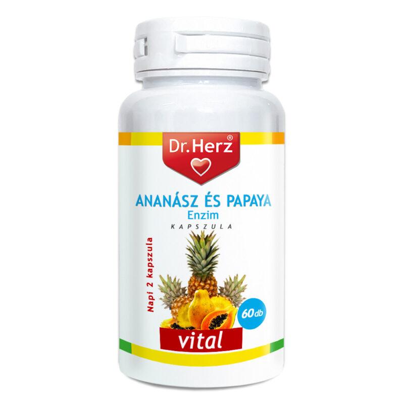 Dr. Herz Ananász-Papaya kapszula - 60db