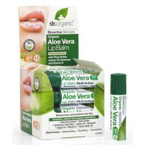 Dr. Organic bio Aloe vera ajakbalzsam – 5.7 ml