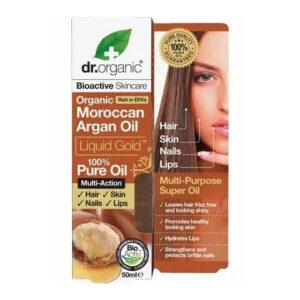 Dr. Organic bio Argán olaj haj-, bőr-, köröm- és ajakápolásra - folyékony arany - 50 ml