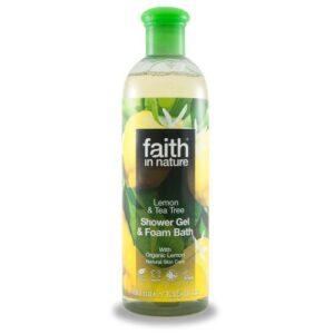 Faith in Nature citrom és teafa tusfürdő – 400ml