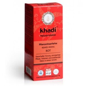 Khadi Hajfesték por Élénkvörös – 100% Henna-tartalommal – 100 g