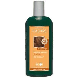 Logona színmegőrző sampon mogyoró barna fekete hajra – 250ml