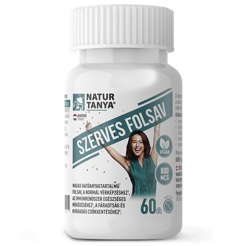 Natur Tanya Szerves Folsav - M-vitamin tabletta - 60db