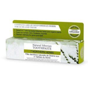 Natura Siberica 7 Northern Herbs fluoridmentes 7 gyógynövényes fogkrém – 100g