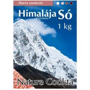 Nature Cookta Himalája sötét rózsaszín durva szemcsés só – 1000g
