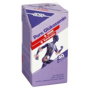 OCSO Porc Glükozamin + MSM + Kondoritin kapszula – 40 db