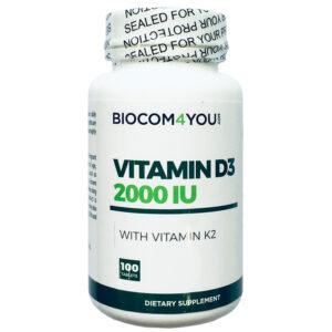 Biocom Vitamin D3 2000IU tabletta - 100db
