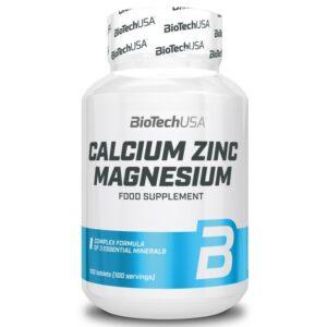 BioTech USA Calcium Zinc Magnesium tabletta - 100db