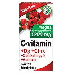 Dr. Chen C-vitamin 1200mg + D3-vitamin + Cink tabletta - 105db