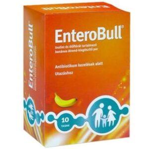 EnteroBull Inulint és Élőflórát tartalmazó banán ízű étrend-kiegészítő por – 10x4g