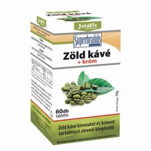 Jutavit zöldkávé+króm tabletta - 60db