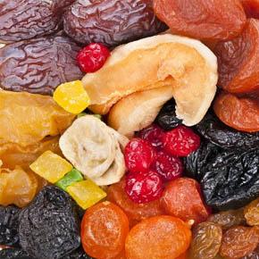 Aszalt és szárított gyümölcsök