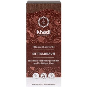 Khadi Növényi hajfesték – középbarna – 100g