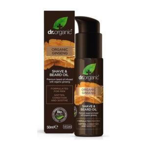 Dr. Organic Men Borotválkozó és szakállápoló olaj bio ginzenggel – 50ml