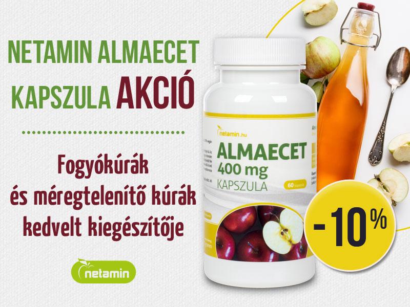 Netamin Almaecet, a zsírégetés- és a fogyás támogatásához..