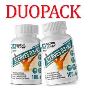 Natur Tanya Szerves D3+K2 vitamin DUOPACK - 2x100db