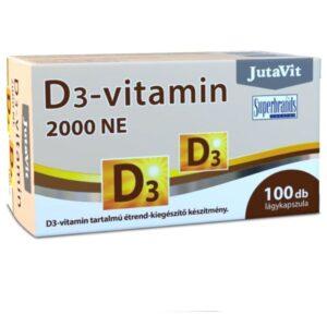 JutaVit D3-vitamin 2000NE lágyzselatin kapszula - 100db