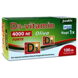JutaVit Olíva D3-vitamin 4000NE Forte lágyzselatin kapszula - 100db