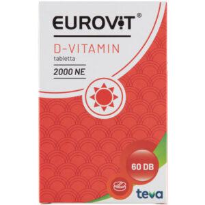 Eurovit D-vitamin 2000NE tabletta - 60db