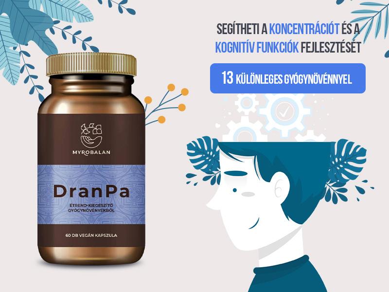 Myrobalan DranPa, a hatékony gyógynövényes agyserkentő és memóriajavító