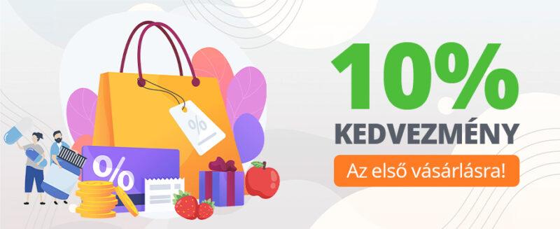 Legyen regisztrált vásárlólónk és most az első rendelésére is -10% kedvezményt biztosítunk!