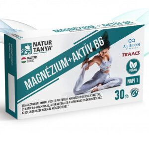 Natur Tanya Magnézium + Aktív B6 vegán kapszula - 30db