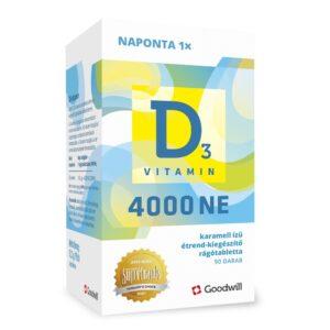 Goodwill D3-vitamin 4000NE rágótabletta - 90db
