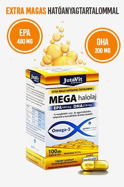 Jutavit Mega halolaj Omega-3 lágyzselatin kapszula
