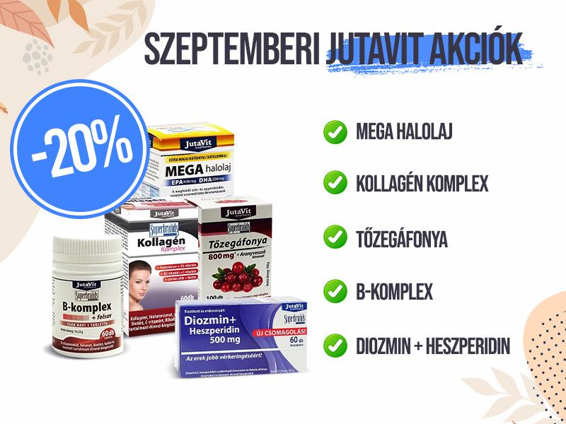 Vásároljon most JutaVit készítményeket 20% kedvezménnyel!