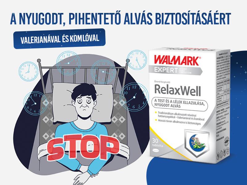 Walmark Relax Well tablettával a pihentető, nyugodt alvásért